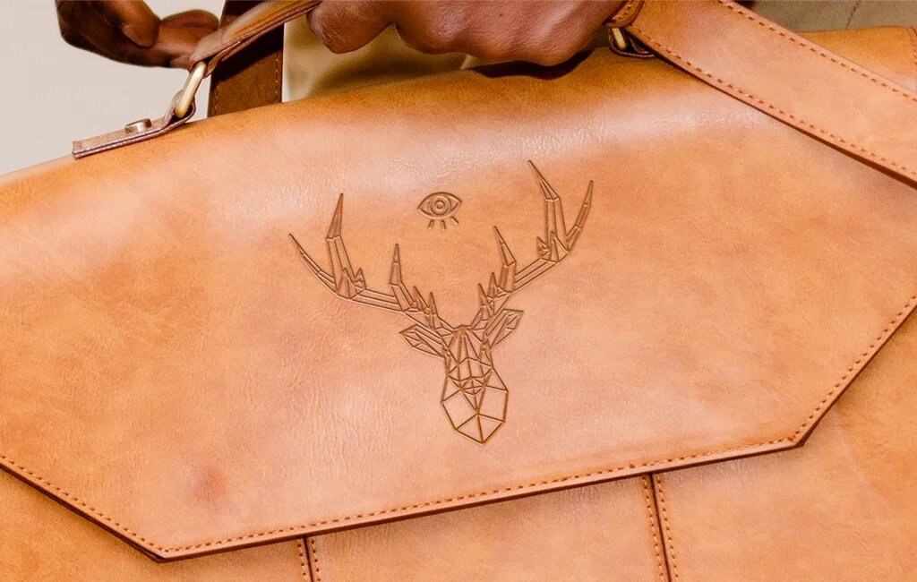 leather bag with pressed logo mockups for free leather bag with pressed logo mockups
