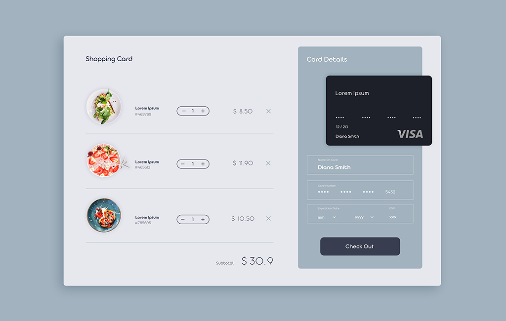Shopping Card Web Design