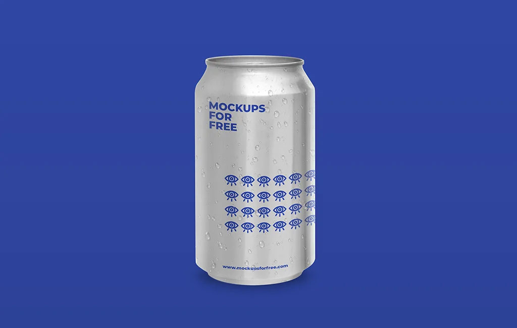 Soda Aluminum Can Mockup