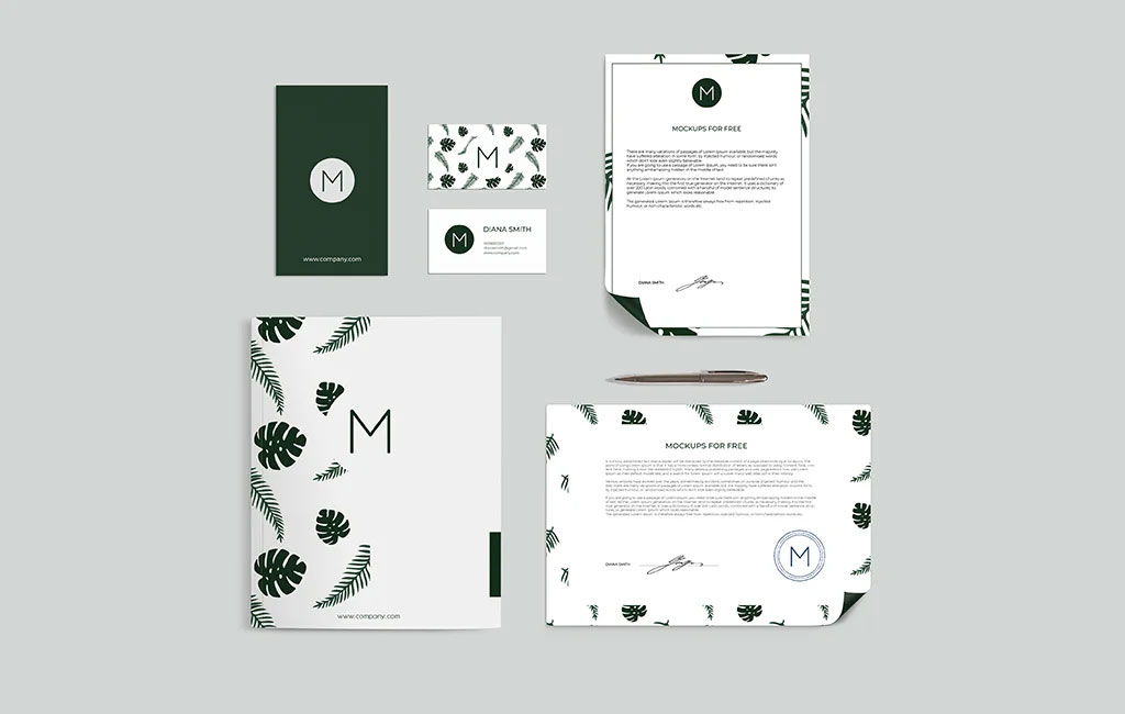 Stationary Set Mockup