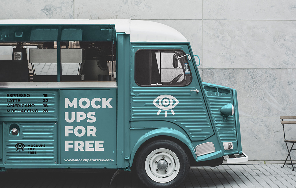 Coffee Bus Mockup
