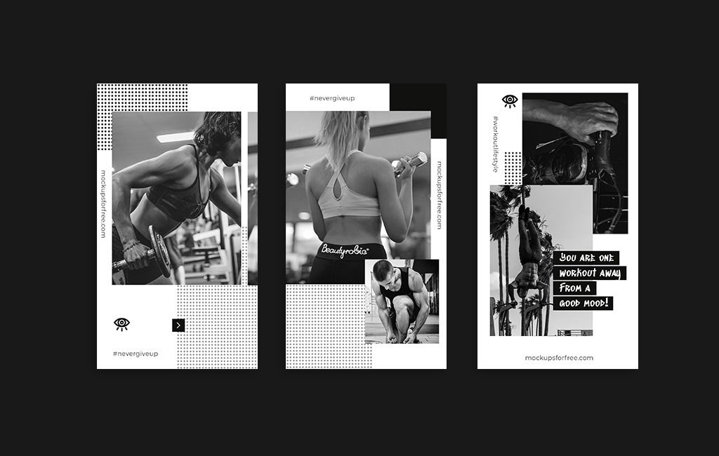 Fitness & Workout Instagram Stories Template