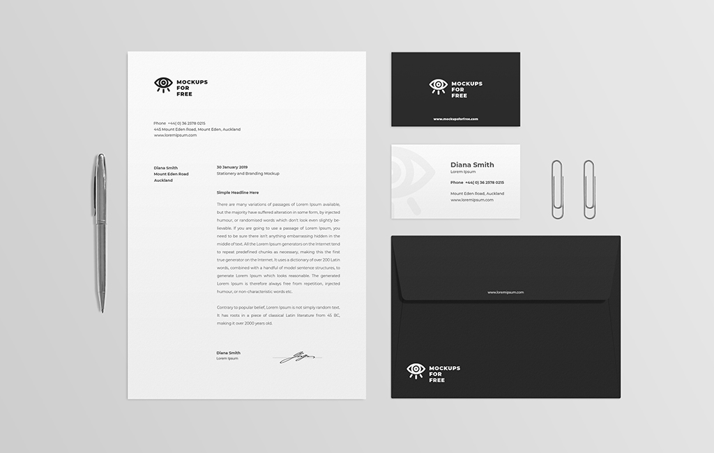 Stationery And Branding Mockup