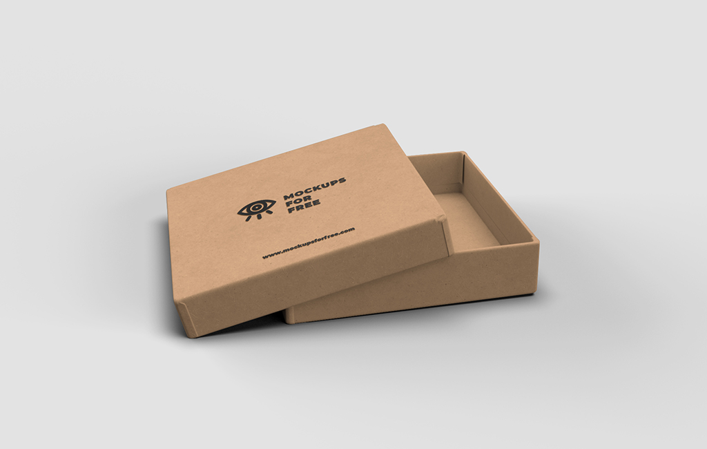 Craft Paper Box Mockup