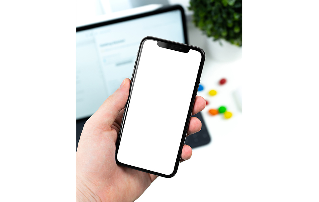 iPhone X In Hand Simple Mockup