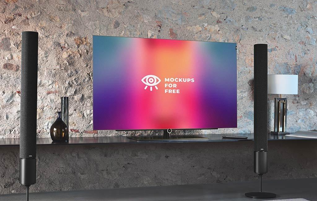 Realistic Smart TV Mockup