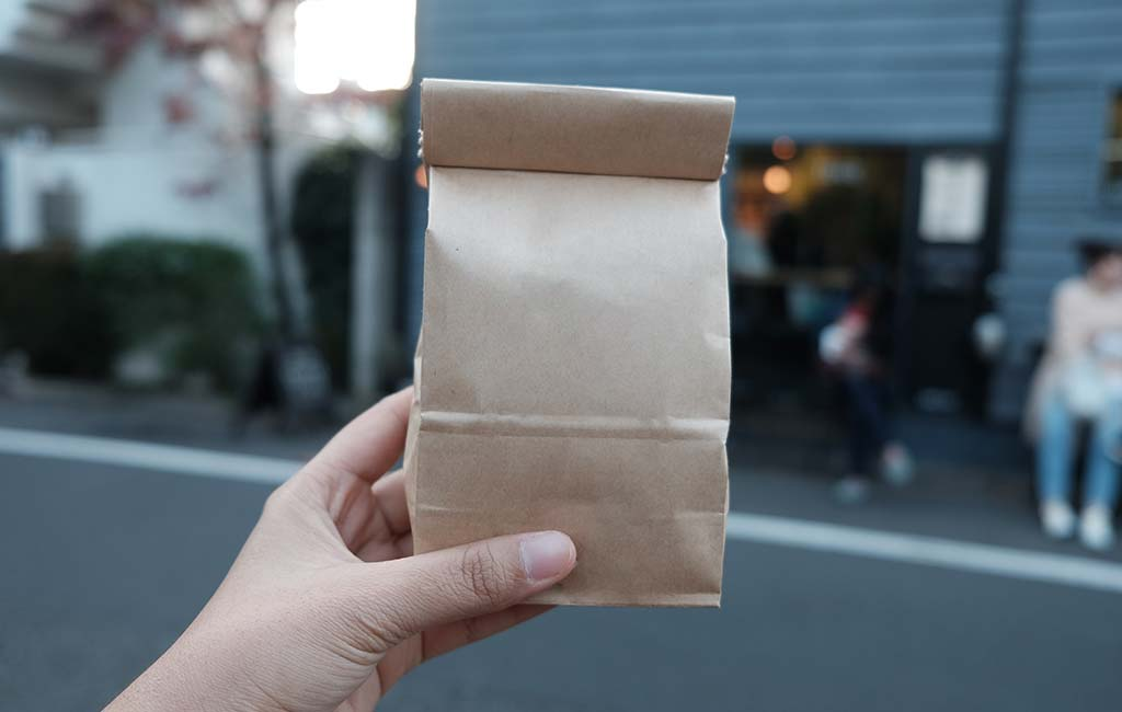 Coffee Beans Craft Paper Bags Mockup