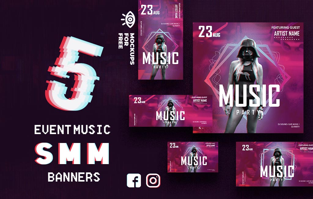 5 Music SMM Event Banners