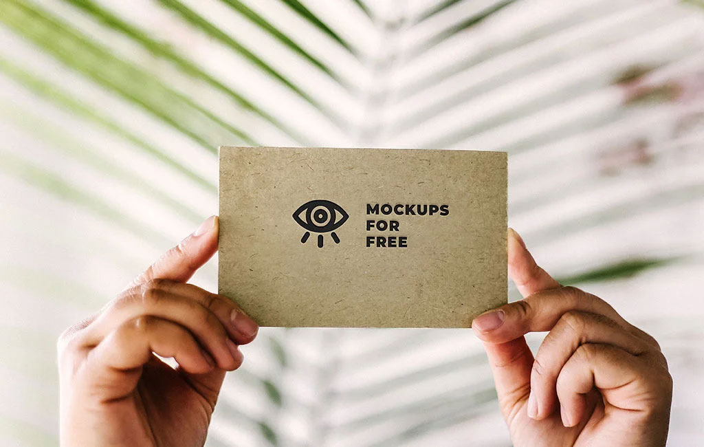 Logo Texture On Card Mockup