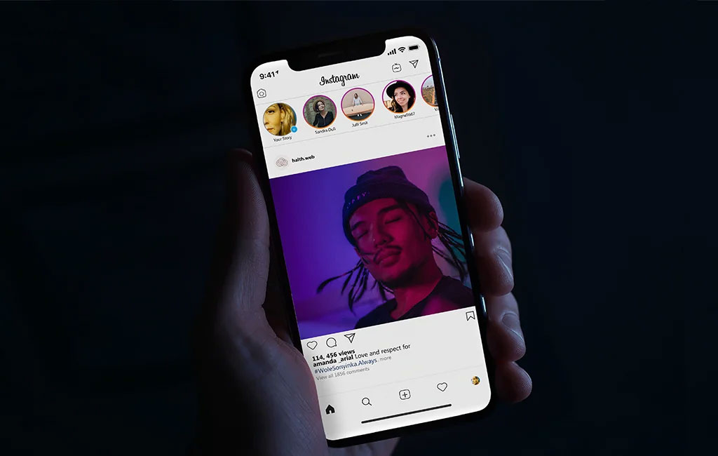 iPhone Instagram Page Mockup