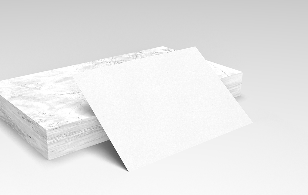 White Business Card Mockup Free Download