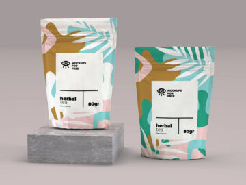 Pouch Packaging free mockup